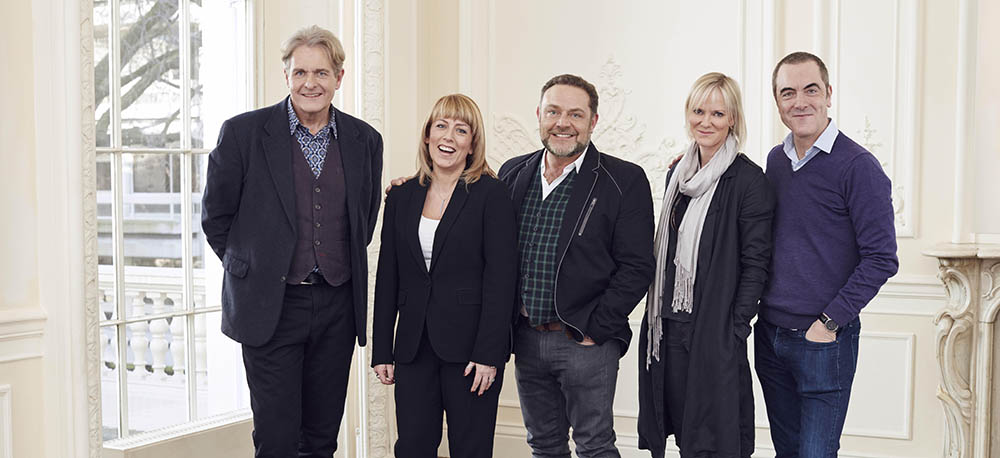 *For immediate release* From ITV Cold Feet Reunion Pictured: Robert Bathurst, Fay Ripley, John Thomson, Hermione Norris and James Nesbitt. The cast of BAFTA winning comedy drama Cold Feet – James Nesbitt, Robert Bathurst, Hermione Norris, John Thomson, and Fay Ripley – were reunited today (19 January) as production commenced on the new series for ITV. This photograph is (C) ITV Plc and can only be reproduced for editorial purposes directly in connection with the programme or event mentioned above, ITV plc or Fremantle UK / Talkback. Once made available by ITV plc Picture Desk, this photograph can be reproduced once only up until the transmission [TX] date and no reproduction fee will be charged. Any subsequent usage may incur a fee. This photograph must not be manipulated [excluding basic cropping] in a manner which alters the visual appearance of the person photographed deemed detrimental or inappropriate by ITV plc Picture Desk. This photograph must not be syndicated to any other company, publication or website, or permanently archived, without the express written permission of ITV Plc Picture Desk. Full Terms and conditions are available on the website www.itvpictures.com For further information please contact: james.hilder@itv.com / 0207 157 3052